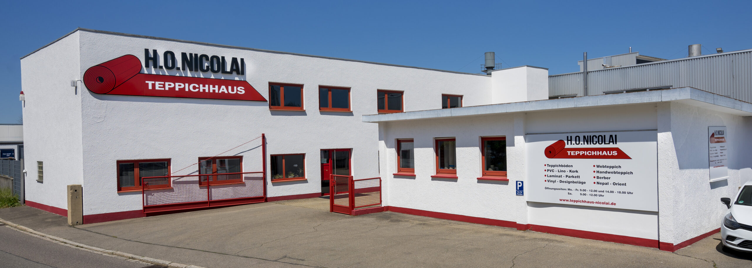 Firmengebäude Teppichhaus Nicolai